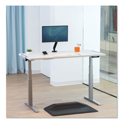 Fellowes Levado Height Adjustable Desk Base (Base Only), 72w x 48d x 47.2h, Silver