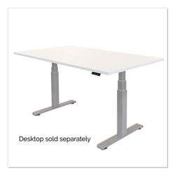 Fellowes Cambio Height Adjustable Desk Base (Base Only), 72w x 30d x 50.25h, Silver
