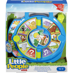 Fisher-Price See 'n Say Toy, World of Animals, 1-4/5 inWx9 inLx11 inH