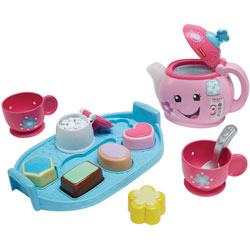 Fisher-Price Play Tea Set, Sweet Manners, 3-9/10 inWx13 inLx13 inH