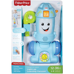 Fisher-Price Learning Vacuum, Light-Up, 5 inWx7-1/2 inLx16-1/4 inH