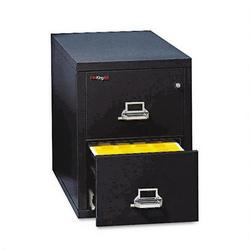 """Fireking Insulated Two Drawer Vertical File, 31 1/2"""" Deep, Legal Size, Black"""