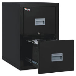 Fireking Patriot Insulated Two-Drawer Fire File, 17.75w x 25d x 27.75h, Black