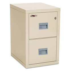 Fireking Turtle Two-Drawer File, 17.75w x 22.13d x 27.75h, UL Listed 350° for Fire, Parchment