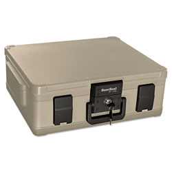 Fireking Fire and Waterproof Chest, 0.38 cu ft, 19.9w x 17d x 7.3h, Taupe