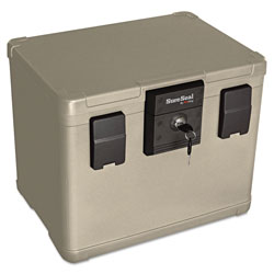 Fireking Fire and Waterproof Chest, 0.6 cu ft, 16w x 12.5d x 13h, Taupe