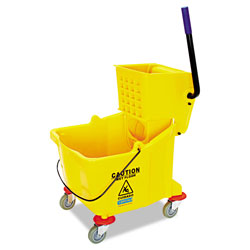 Carlisle Foodservice Products Side-Press Bucket/Wringer Combo, 8.75 gal, Yellow