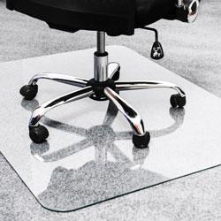 Floortex Glass Chair Mat, 40 in x 53 in, Clear