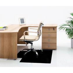 Floortex Chairmat, Hard Floor, 36 inWx48 inLx3/5 inH, Black