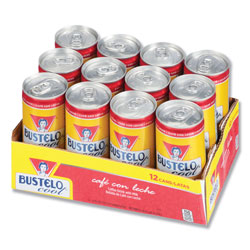Cafe Bustelo Ready to Drink Espresso Beverage, Classic, 8oz Can, 12/Pack
