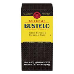 Cafe Bustelo Espresso Style Coffee Pods, Espresso, 0.38 oz Pods,18/Box