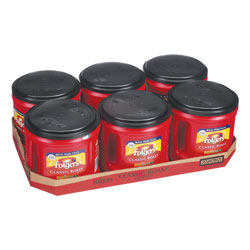 Folgers Coffee, Classic Roast, Ground, 30.5 oz Canister, 6/Carton