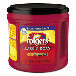 Folgers Coffee, Classic Roast, Ground, 30.5 oz Canister