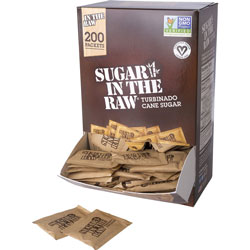 Folgers Sugar In The Raw, Natural, 4.5 g Packs, Dispenser,400/CT