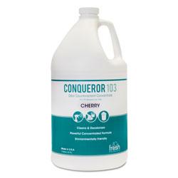 Fresh Products Conqueror 103 Odor Counteractant Concentrate, Gallon, Cherry Fragrance, 4/Carton