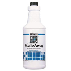 Franklin Cleaning Technology Scaleaway Bathroom Cleaner, Floral Scent, 32 oz Bottle, 12/Carton