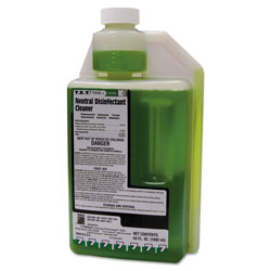 Franklin Cleaning Technology T.E.T. Neutral Disinfectant Cleaner, Apple Scent, Liquid, 2 qt. Bottle, 4/Carton