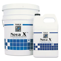 Franklin Cleaning Technology Nova X Extraordinary UHS Star-Shine Floor Finish, Liquid, 1 gal. Bottle
