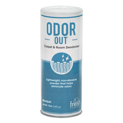 Fresh Products Odor-Out Rug/Room Deodorant, Bouquet, 12oz, Shaker Can, 12/Box