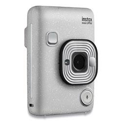 Fuji Instax Mini LiPlay Instant Camera, Stone White