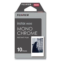 Fuji Monochrome Instax Film, Black and White, 10 Sheets