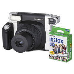 Fuji Instax Wide 300 Camera Bundle, 16 MP, Auto Focus, Black