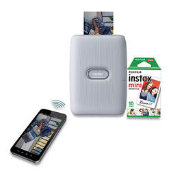 Fuji instax mini Link Smartphone Printer, Ash White