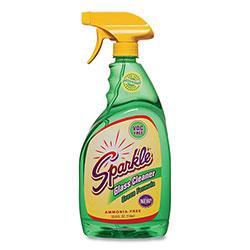 Sparkle Green Formula Glass Cleaner, 33.8 oz Bottle, 12/Carton