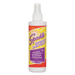 Sparkle Flat Screen & Monitor Cleaner, Pleasant Scent, 8 oz Bottle, 12/Carton