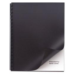 GBC® Opaque Plastic Presentation Binding System Covers, 11 x 8 1/2, Black, 50/Pack