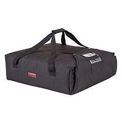 Cambro GBP220110 Customizable Insulated Black Pizza Delivery GoBag™ - Holds up to (2) 20 in or (3) 18 in Pizza Boxes