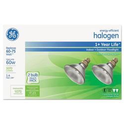 GE Energy-Efficient PAR38 Halogen Bulb, 60 W, 2/Pack