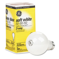 GE Incandescent Soft White 3-Way A21 Light Bulb, 50/100/150 W