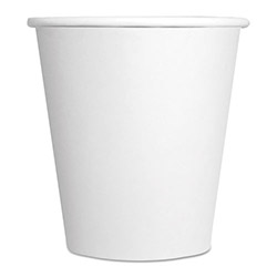 ReStockIt Paper Hot Cups - 10 oz., White, 25/ Sleeve, 40 Sleeves/Case, 1000 per Case