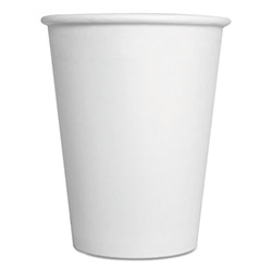 ReStockIt Paper Hot Cup - White, 12 oz., White, 25/Sleeve, 40 Sleeves/Case, 1000 per Case