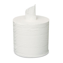 GEN Centerpull Towels, 2-Ply, White, 600 Roll, 6 Rolls/Carton