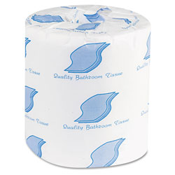 GEN Bath Tissue, Septic Safe, 2-Ply, White, 500 Sheets/Roll, 96 Rolls/Carton