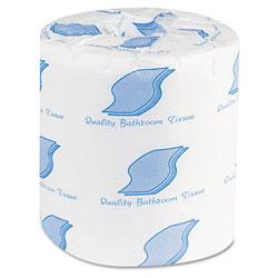 GEN Bath Tissue, Septic Safe, 2-Ply, White, 500 Sheets/Roll, 96 Rolls/Carton