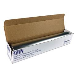 GEN Standard Aluminum Foil Roll, 18 in x 500 ft, 4/Carton