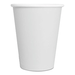 ReStockIt Paper Hot Cups, 8 oz., White, 25/sleeve, 40 Sleeves/Case, 1000 per case