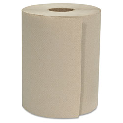 GEN Hardwound Roll Towels, 1-Ply, Natural, 8 in x 800 ft, 6 Rolls/Carton