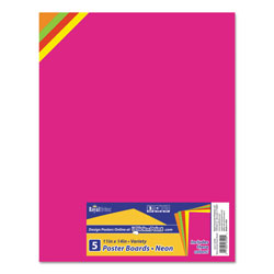Royal Brites Premium Coated Poster Board, 11 x 14, Assorted, 5/Pack