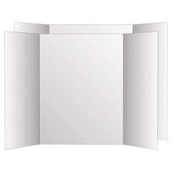 Geographics Two Cool Tri-Fold Poster Board, 36 x 48, White/White, 6/Carton