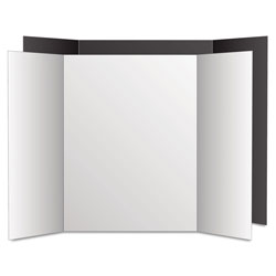 Geographics Too Cool Tri-Fold Poster Board, 36 x 48, Black/White, 6/PK