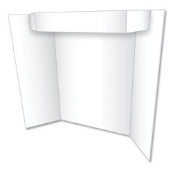 Geographics Too Cool Tri-Fold Poster Board, 24 x 36, White/White
