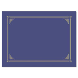 Geographics Certificate/Document Cover, 12 1/2 x 9 3/4, Metallic Blue, 6/Pack