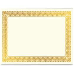 Geographics Gold Foil Certificate, Hvy-Wt, 10/PK, Gold
