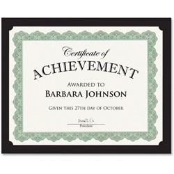 Geographics Traditional Certificates, 10/PK, Black