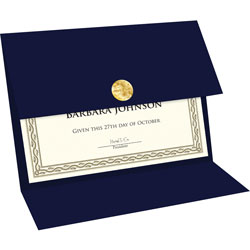 Geographics Trifold Traditional Certificates, Navy