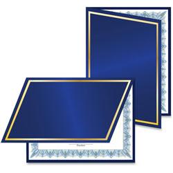 Geographics Felt Cover Certificate Holders, 5SH/PK, Navy